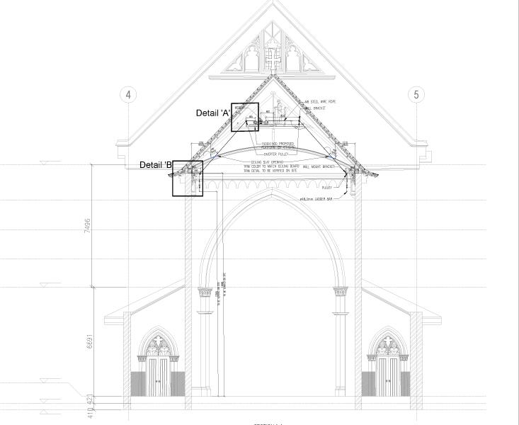 St. Joseph's Church Curtain System