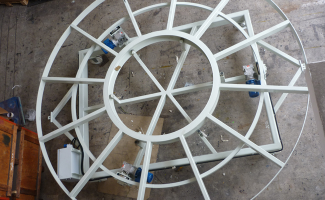 Turn Table at Aerospace factory